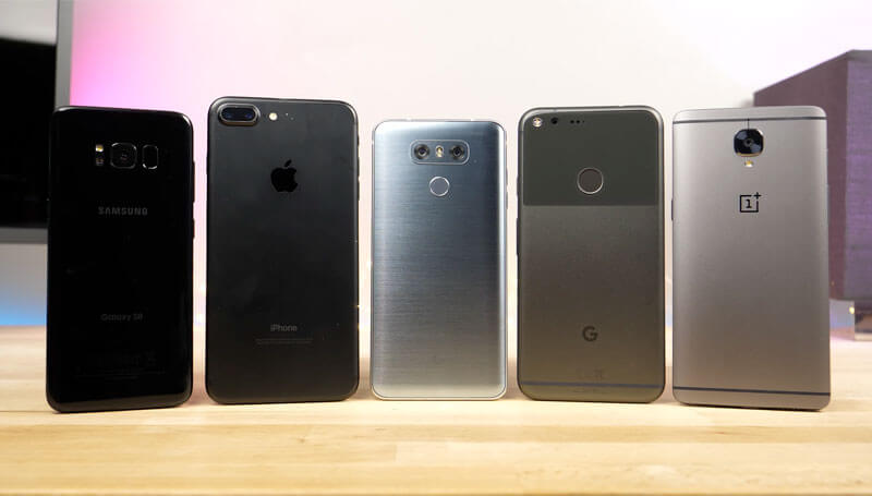 Samsung Galaxy S8 , iPhone 7 Plus, LG G6 , OnePlus 3T , Google Pixel
