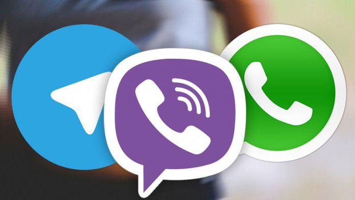 WhatsApp Viber Telegram