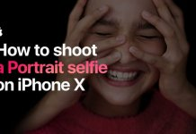 How to shoot a portrait selfie on iphone x